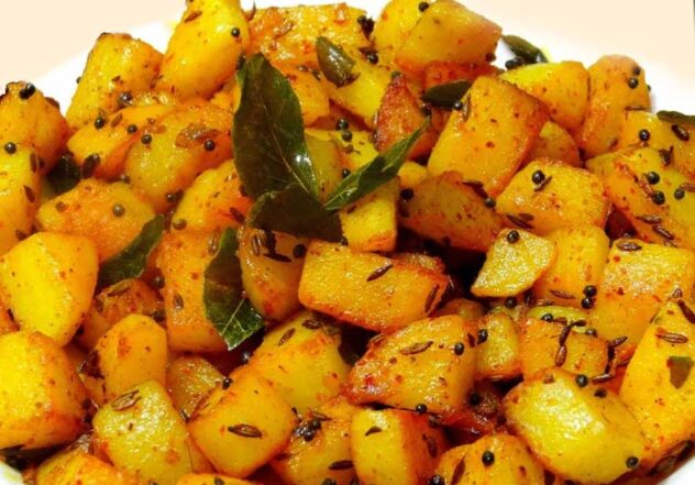 Best Batata Nu Shaak   Gujarati Style Crispy Potato Curry