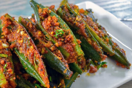 Blissful Bharela Bhinda | Gujarati Okra filled with flavours