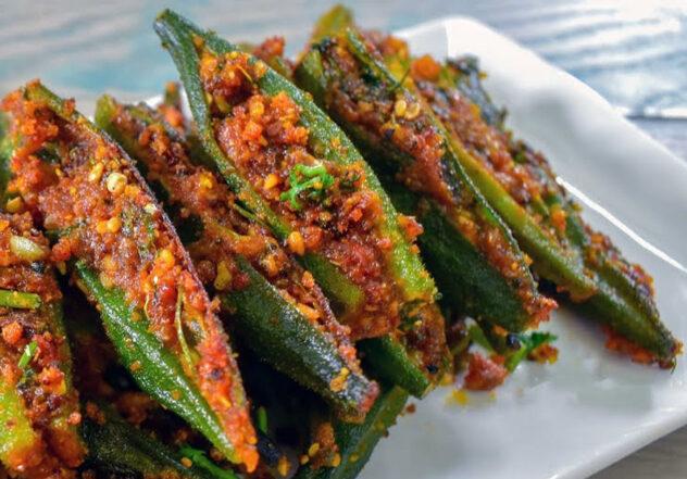 Blissful Bharela Bhinda | Gujarati Okra filled with flavours
